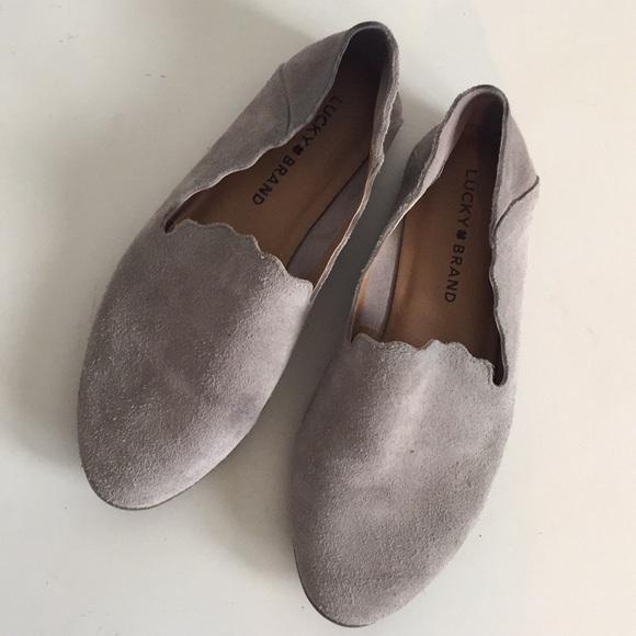 Caliya Gray Suede Loafer Flats